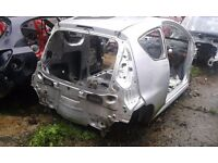 PEUGEOT 107 3 DOOR BARE SHELL IN SILVER SPARES OR REPAIR