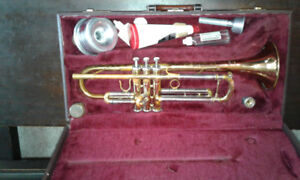 Jupiter trumpet with case and accessories