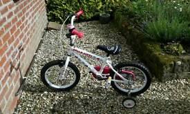 "Hello Kitty girls bike 16"" wheels age 5-7 STILL AVAILABLE 15/2/17 in COYLTON"