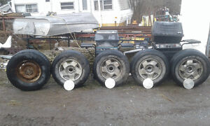 Chevy 6 bolt aluminum rims and tires