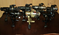 7 Open Face Fishing Reels In Very Good Working Condition