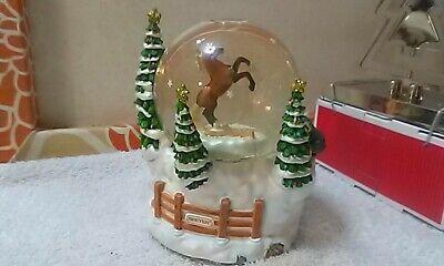 Musical Christmas Animals Snow Globe 'Starry Night' Noel Song