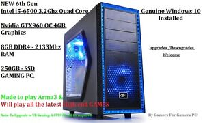 Intel i5-6500 3.2Ghz,Nvidia GTX960 OC 4GB Graphics,8GB DDR4 RAM Fairview Park Tea Tree Gully Area Preview