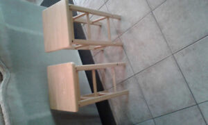 21 inch pair of solid birch stools