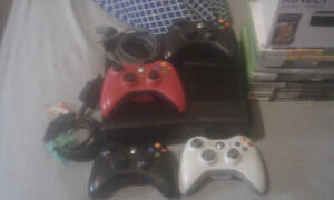 XBOX360 with KINECT and 50 GAMES