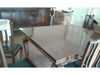 Victorian mahogany large extendable dining table and chairs