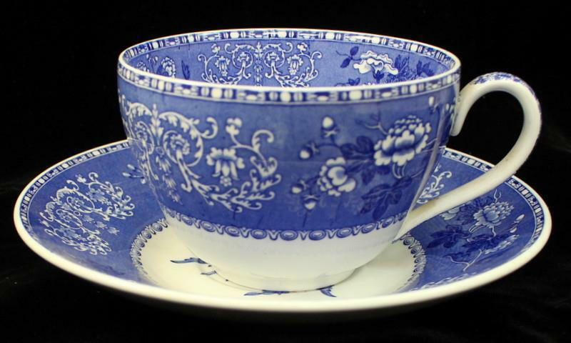 Spode BLUE ROOM COLLECTION Jumbo Cup & Saucer Camilla GREAT CONDITION