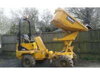 Thwaites hytip swivel skip 2 ton dumper,rops,beacon,yr2004,1400hrs,tyres all good,,g.w.o.