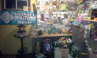 SUDBURY BIRD HOUSE, (toys, cages, accesories, feed)