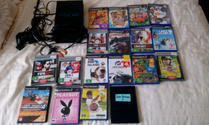 Playstation 2 with bundle of games