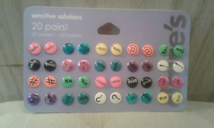 REDUCED--BRAND NEW!!! Neat Neon Text Style Stud Earrings