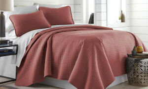 Premium Collection 3 Piece Rusty Red Quilt Set (Full/Queen)