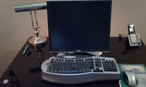 Dell monitor and wireless keyboard