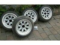 "13"" Image split rim alloy wheels and tires for classic mini"