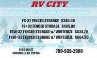 RV FENCED WINTER STORAGE