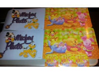 2 USED MICKEY MOUSE & 2 NEW WINNIE THE POOH TABLE MATS WITH 3 NEW CUP MATS
