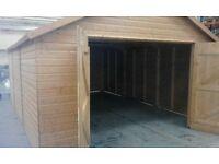 Wooden garage workshop