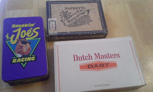 vintage cigar boxes and one tin Strathcona County Edmonton Area image 1