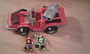 Fisher Price Fire truck with 2 firefighters Belleville Belleville Area image 1
