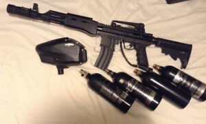 BT AK 47 Upgraded paintball marker package -$250.00 OBO/ Trade