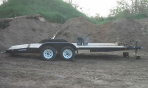 18 FT OPEN CAR TRAILER. USED FOUR TIMES