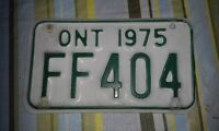 VINTAGE 1975 ONTARIO MOTORCYCLE LICENSE PLATE