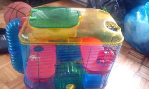 2 hamster/rodent cages