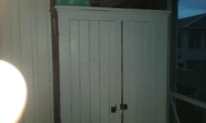 Two Antique kitchen cupboards
