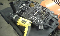 "Dewalt 120V 7.8A 1/2"" Hammer drill + 55pc bit set"