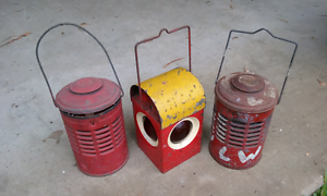 Old lanterns , carbide lamps and rail gear for trade. Alice River Townsville Surrounds Preview