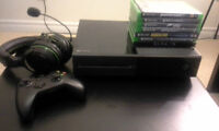 $500 - XBOX ONE System, includes controller and 7 games