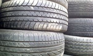 Assortment new/used car tires