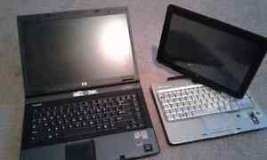Hp pavilion touch screen .....and a..... hp Compaq 8510p