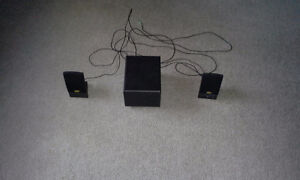 Great Sound System with Subwoofer and Two Speakers
