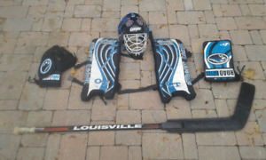 Road hockey equipement plus stick for kids