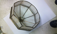Classic Stained Glass Tiffany Light Fixture $19 OBO