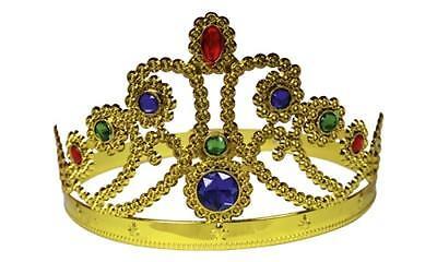 Kinder Königin Krone Prinzessin Edelsteine Größenverstellbar Fasching gold