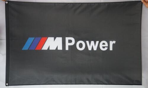 Free Ship to USA BMW LOGO M Power FLAG BANNER 3x5 inches serie z8 z4 i8 i3 x6