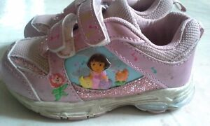 Dora light-up shoes size 6