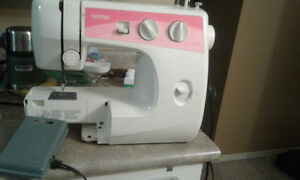 Brother sewing machine trade for small bathroom shelf unit.