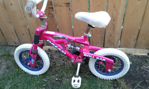 "Girl 12"" bicycle with training wheel"