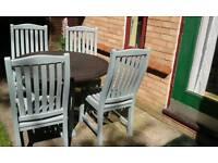 Teak garden furniture