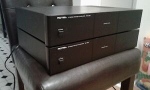 2 Rotel RB-850 Stereo Power Amplifiers