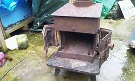 Vintage QUEBB Woodburner. Now cleaned and painted.
