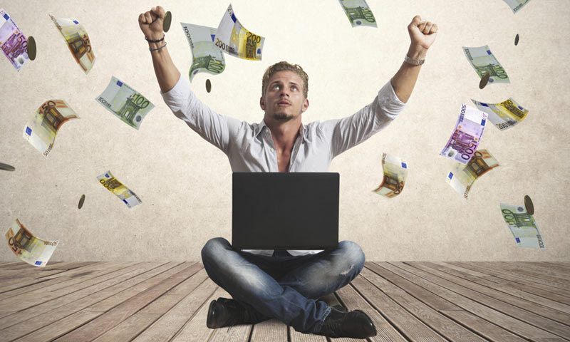 Geldregen dank Internet: Wir zeigen, wie es geht. (Copyright: Thinkstock/ über The Digitale)