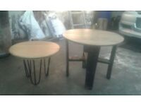 Whiskey Barrel lid table