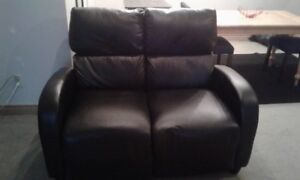 Black Leather 2 Seat Couch