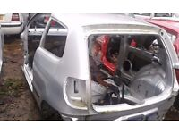 VW FOX BARE SHELL IN SILVER SPARES OR REPAIR
