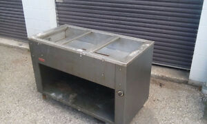 MKE three well steam table