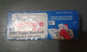 1989 Topps Baseball Card Box.  500 cards.  Original packaging.